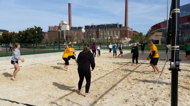 Our first interhonorary event - Sand Volleyball!
